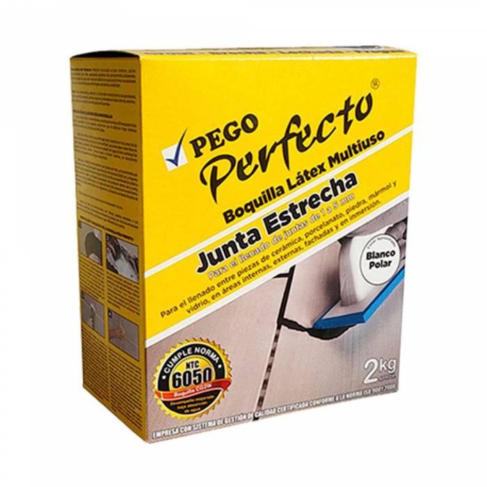 Boquilla Perfecto Junta Estrecha Blanco Nacar  X 2KG Pego perfecto - 1