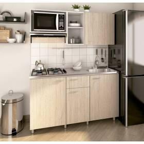 Cocina Integral Veneciana 1.50 4 gas Chantilli Izquierda Socoda - 1
