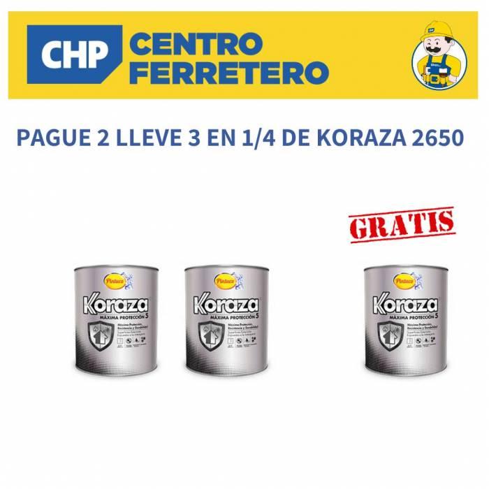 PAGUE 2 LLEVE 3 EN KORAZA 2650 DE 1/4 Pintuco - 1
