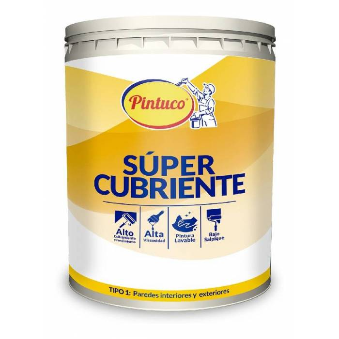 PINTURA SUPER CUBRIENTE BLANCO 1310 GALON Pintuco - 1