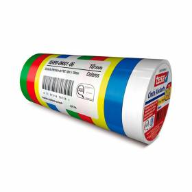 Kit cinta aislante colores surtidos 19MMX Tesa - 1